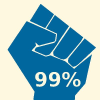 occupy 99procent geel 100px